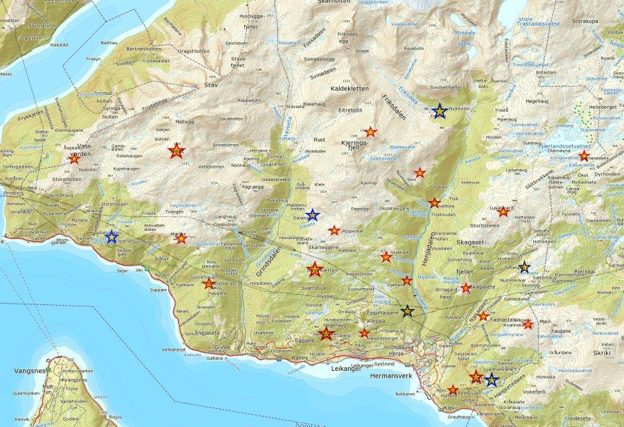 Kart over turpostar 2018