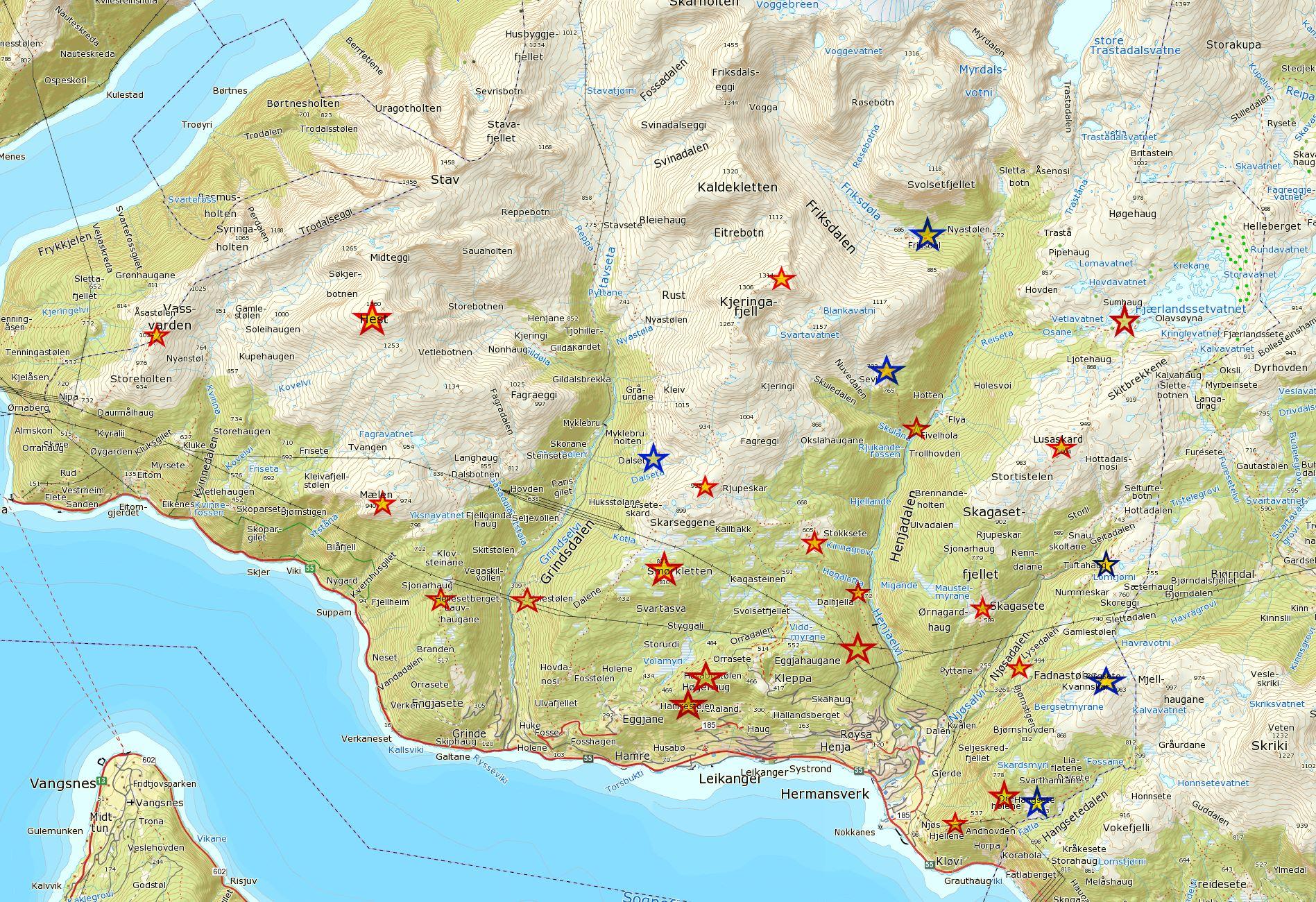 Kart over turpostar 2020v2